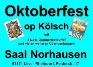 Oktoberfest op Kölsch @ Saal Norhausen