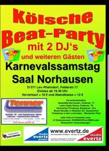 Kölsche BeatParty @ Saal Norhausen