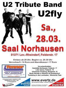 U2fly die U2 Tribute Band @ Saal Norhausen